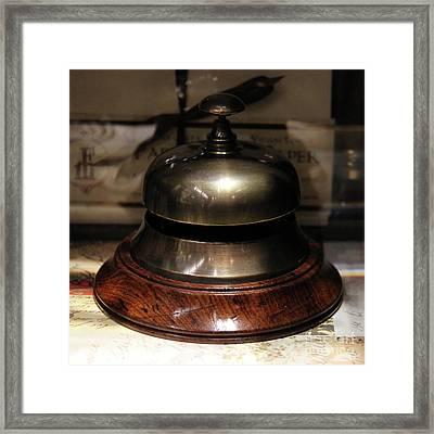 Antique Bell Framed Print