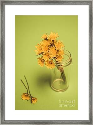 Antique Blooms Framed Print