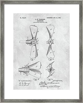 Antique Boat Propeller Patent Framed Print by Dan Sproul