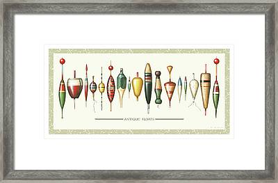 Antique Bobbers Framed Print by JQ Licensing