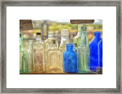 Antique Bottles Framed Print by Tamera James