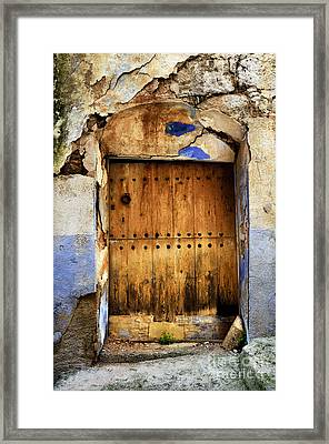 Antique Brown Door Framed Print by RicardMN Photography