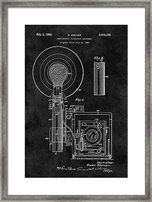 Antique Camera Flash Patent Framed Print
