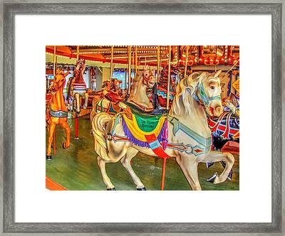 Antique Carousel, Seaside Heights Boardwalk Framed Print