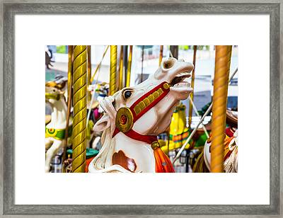 Antique Carrousel Horse Ride Framed Print by Garry Gay