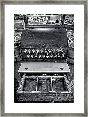 Antique Cash Register 1 Framed Print