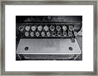 Antique Cash Register 3 Framed Print