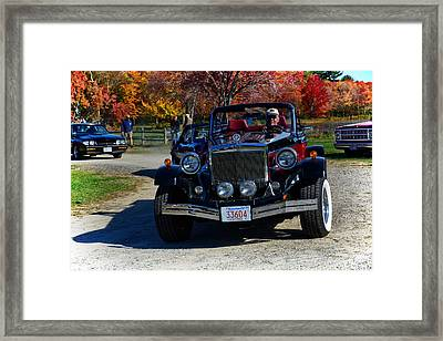 Antique Clenet Roadster Framed Print by Mike Martin