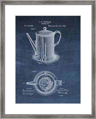 Antique Coffee Pot Patent Framed Print