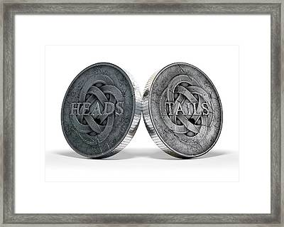 Antique Coins Heads And Tails Framed Print
