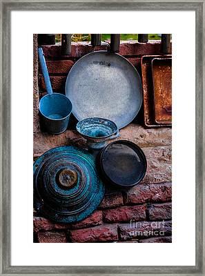 Antique Cookware Framed Print by Gary Keesler