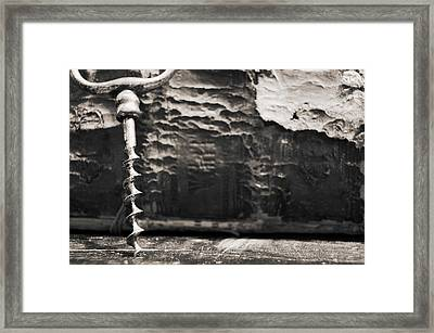 Framed Print featuring the photograph Antique Corkscrew. by Andrey  Godyaykin