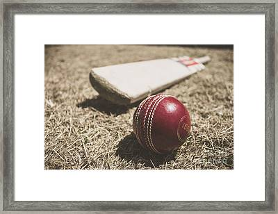 Antique Cricket Test Match Framed Print
