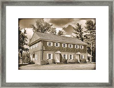 Antique Crosswicks Meeting House Framed Print by Olivier Le Queinec