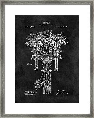 Antique Cuckoo Clock Patent Framed Print by Dan Sproul