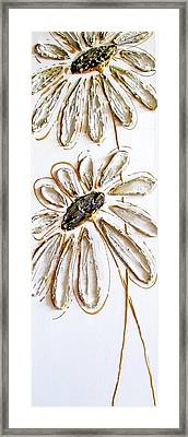 Antique Daisies Framed Print