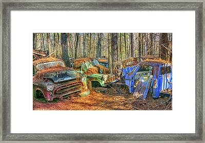 Antique Trucks Framed Print