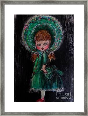 Antique Doll Framed Print by Akiko Okabe