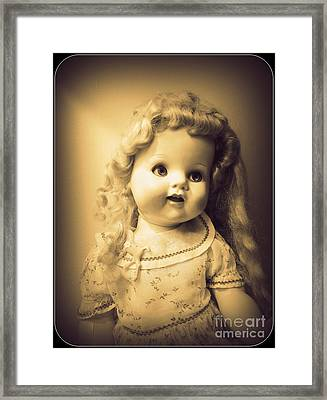 Antique Dolly Framed Print by Susan Lafleur