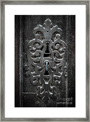 Antique Door Lock Framed Print