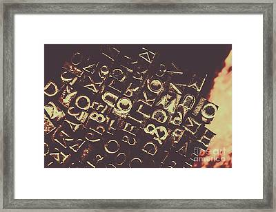 Antique Enigma Code Framed Print by Jorgo Photography - Wall Art Gallery