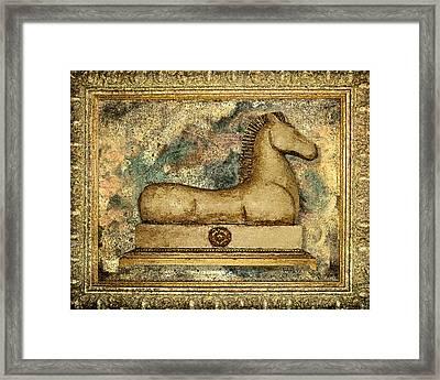 Antique Equine Framed Print by Carol Peck