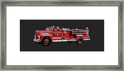 Antique Fire Engine Framed Print by Susan Savad