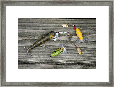 Antique Fishing Lures Framed Print