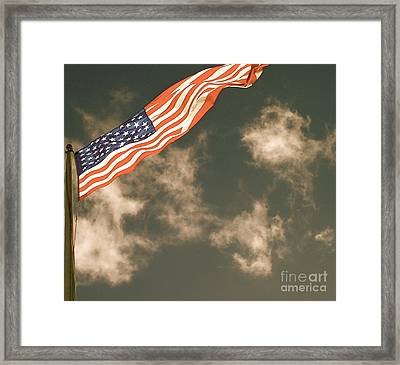 Antique Flag Framed Print