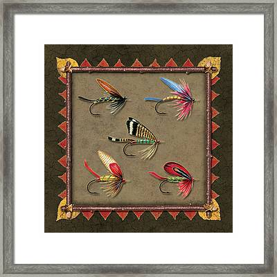 Antique Fly Panel Framed Print by JQ Licensing