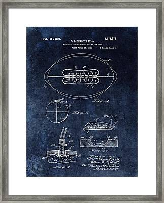 Antique Football Patent Drawing Framed Print