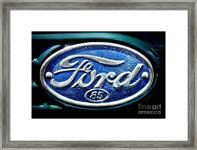 Antique Ford Badge Framed Print by Olivier Le Queinec