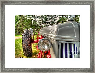 Antique Ford Tractor Framed Print by Michael Garyet