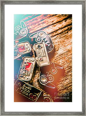 Antique Gaming Consoles Framed Print