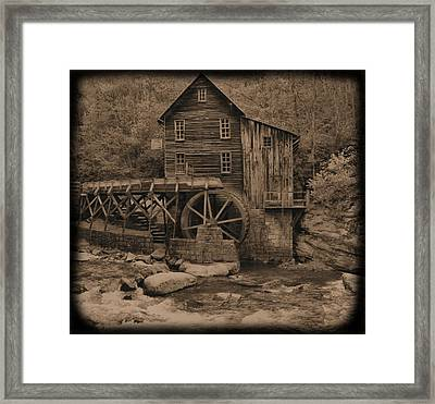 Antique Glade Creek Grist Mill Framed Print by Dan Sproul