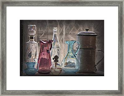 Antique Glassware Framed Print by Steve Ohlsen