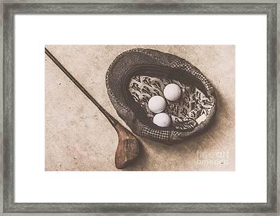 Antique Golfer Still Life Framed Print by Jorgo Photography - Wall Art Gallery