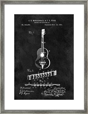 Antique Guitar Bridge Patent Framed Print