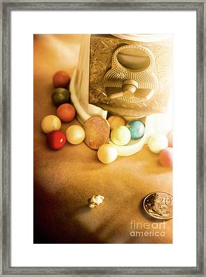 Antique Gumball Vending Machine  Framed Print by Jorgo Photography - Wall Art Gallery