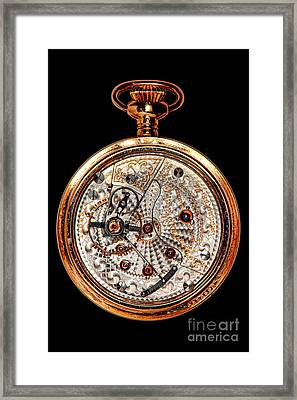 Antique Hamilton Railroad Watch Movement  Framed Print by Olivier Le Queinec