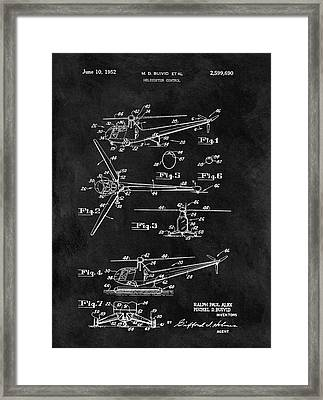 Antique Helicopter Blueprint Framed Print by Dan Sproul