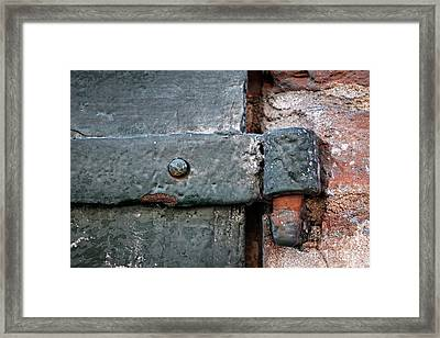 Framed Print featuring the photograph Antique Hinge by Elena Elisseeva