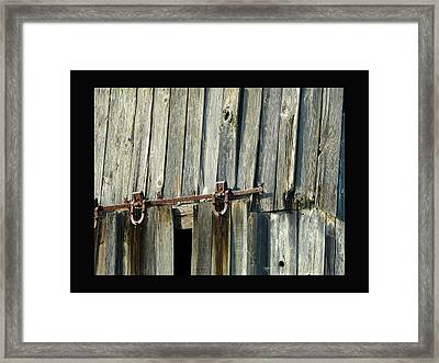 Antique Hinges Framed Print