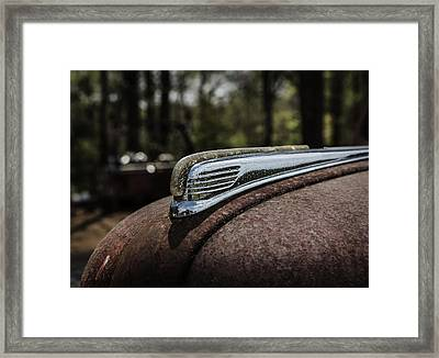 Framed Print featuring the photograph Antique Hood Ornament by Kim Hojnacki
