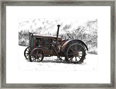 Antique Iron Horse Framed Print by Kathy M Krause