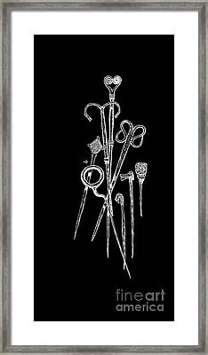 Antique Jewelry Pins Tee Framed Print by Edward Fielding