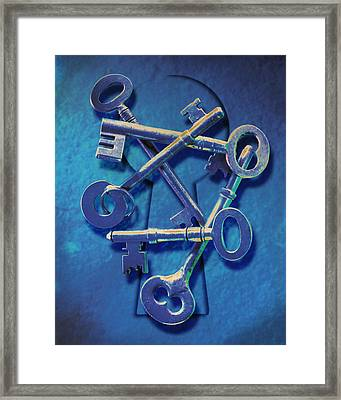 Antique Keys Framed Print by Kelley King