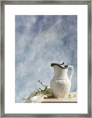 Antique Lidded Jug Framed Print