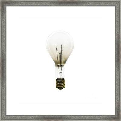 Antique Lightbulb Framed Print