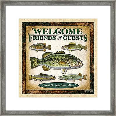 Antique Lure Fish Panel Three Framed Print by JQ Licensing Jon Q Wright
